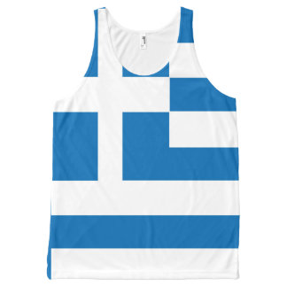 The National flag of Greece All-Over-Print Tank Top