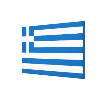 The National flag of Greece Canvas Print