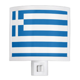 The National flag of Greece Night Lights