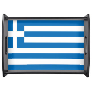 The National flag of Greece Serving Tray