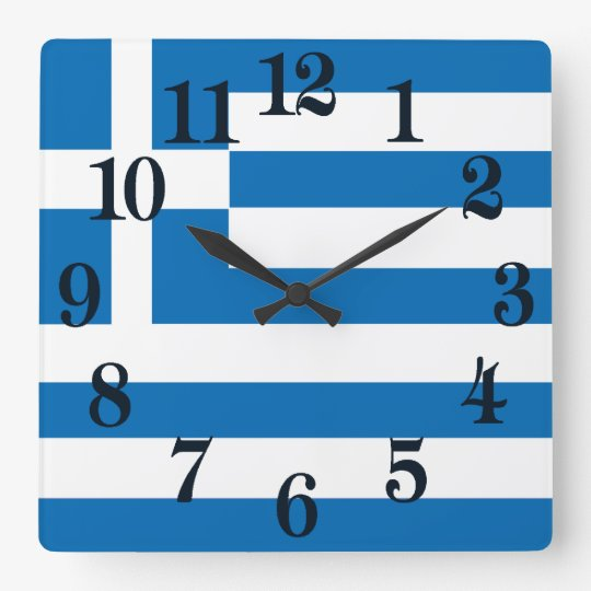 The National flag of Greece Wall Clock