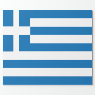 The National flag of Greece Wrapping Paper