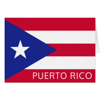 The National Flag of Puerto Rico Card