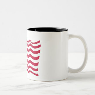The national flag of the United States of America Two-Tone Coffee Mug