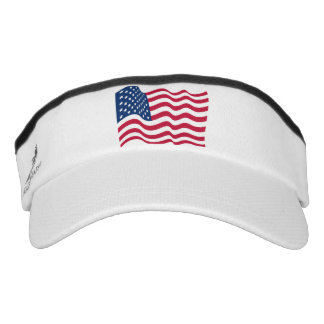 The national flag of the United States of America Visor