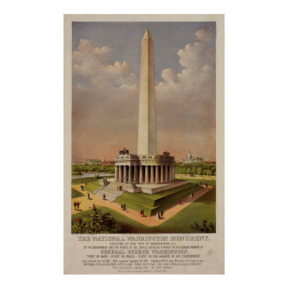 The National Washington Monument 1885 Poster