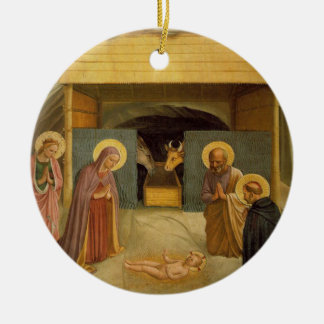 The Nativity by Fra Angelico Religious Fine Art Ceramic Ornament