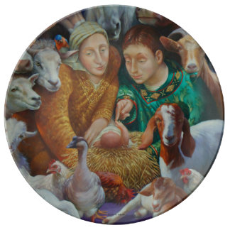 The Nativity by Rosemarie Adcock Plate