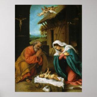 The Nativity Christi Geburt by Lorenzo Lotto Poster