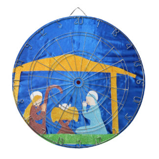 The Nativity Dartboard With Darts