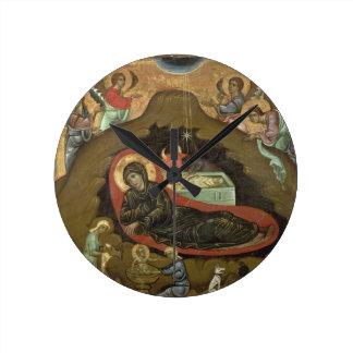 The Nativity, (oil on panel) Wallclock