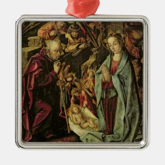 The Nativity Silver-Colored Square Ornament