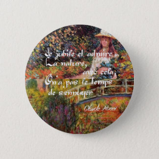 The nature in Monet's art. 2 Inch Round Button