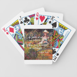 The nature in Monet's art. Bicycle Playing Cards