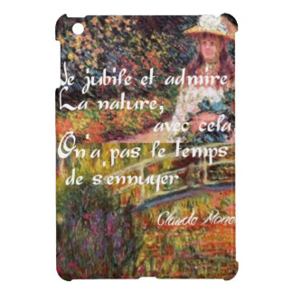 The nature in Monet's art. iPad Mini Cases
