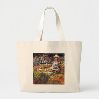 The nature in Monet's art. Large Tote Bag