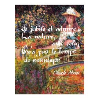 The nature in Monet's art. Letterhead