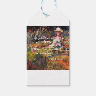 The nature in Monet's art. Pack Of Gift Tags