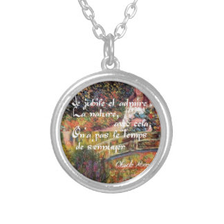 The nature in Monet's art. Silver Plated Necklace