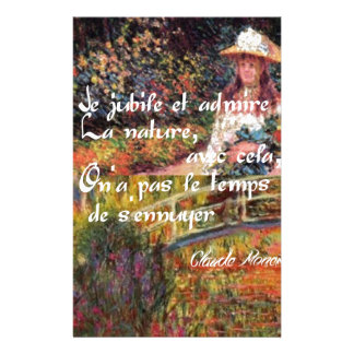 The nature in Monet's art. Stationery