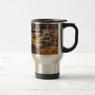 The nature in Monet's art. Travel Mug