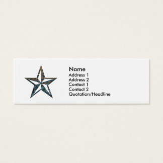 the Nautical Star Mini Business Card