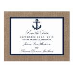 The Navy Anchor On Burlap Beach Wedding Collection