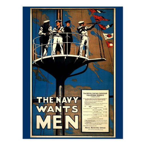 The Navy Wants Men Post Cards