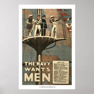 The Navy Wants Men Poster