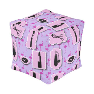 The Necessities Cosmetic Makeup Pattern Cubed Pouf