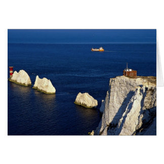 The Needles and lighthouse, Isle of Wight, U.K. Card