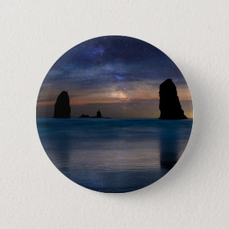 The Needles Rocks Under Starry Night Sky 2 Inch Round Button