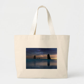 The Needles Rocks Under Starry Night Sky Large Tote Bag