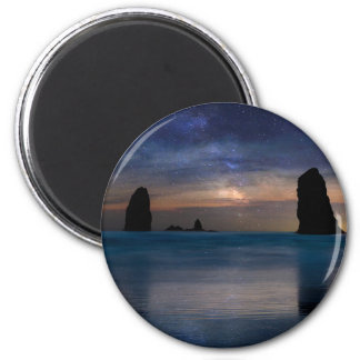 The Needles Rocks Under Starry Night Sky Magnet