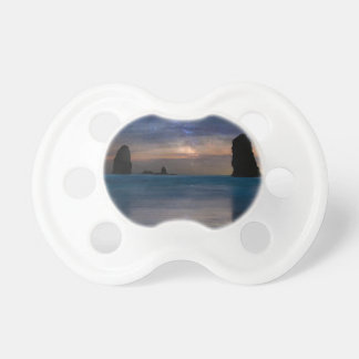 The Needles Rocks Under Starry Night Sky Pacifier