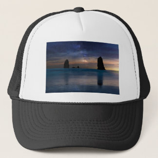 The Needles Rocks Under Starry Night Sky Trucker Hat