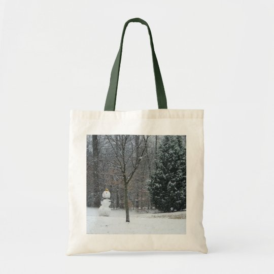 The Neighbour's Snowman Winter Snow Photography Tote Bag