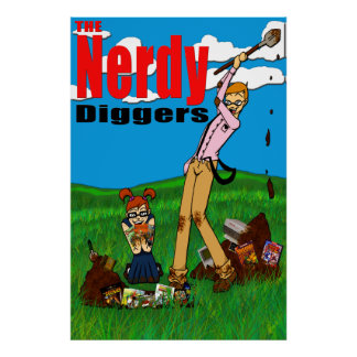 The Nerdy Diggers - Standard Logo - Poster 24x36