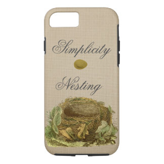 The nest and egg vintage-style iPhone 7 case