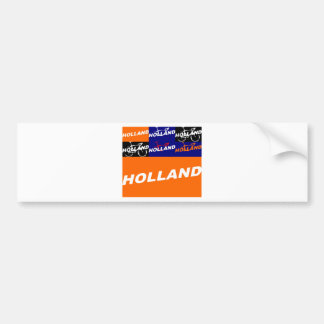 The Netherlands Cycling Bumper Sticker
