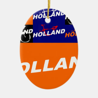 The Netherlands Cycling Ceramic Ornament