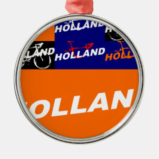 The Netherlands Cycling Metal Ornament