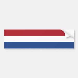 The Netherlands – Dutch Flag Bumper Sticker