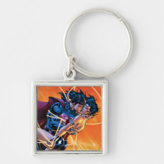 The New 52 Cover #12 Silver-Colored Square Keychain
