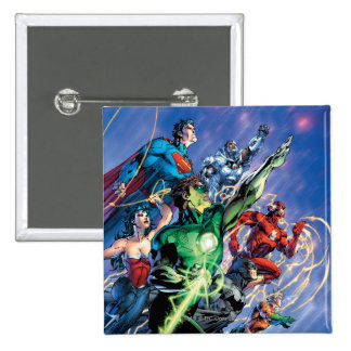The New 52 Cover #1 3rd Print 2 Inch Square Button