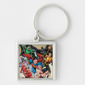 The New 52 Cover #1 4th Print Silver-Colored Square Keychain