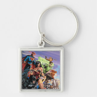 The New 52 Cover #5 Variant Silver-Colored Square Keychain
