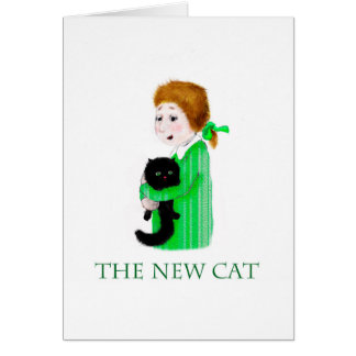 The new black cat. card
