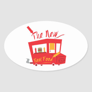 The New Fast Food Oval Sticker