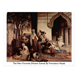 The New Favorite (Harem Scene) By Francesco Hayez Postcard